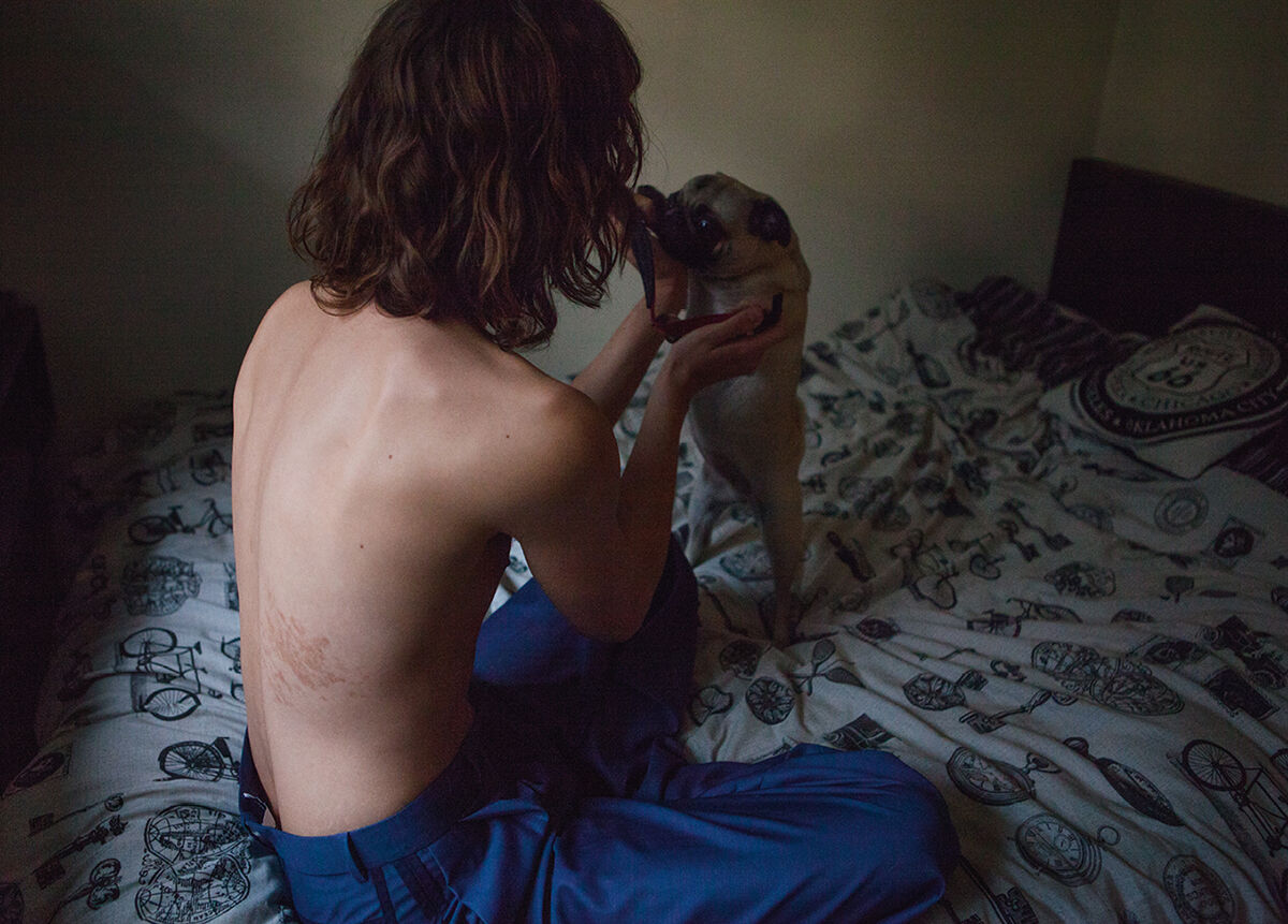 Portrait of Bradley Phillips by Cecilie Harris. Courtesy of Boys by Girls.