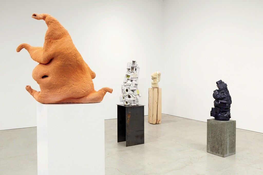"Installation view of ""Arlene Shechet: All at Once"" courtesy of ICA Boston"