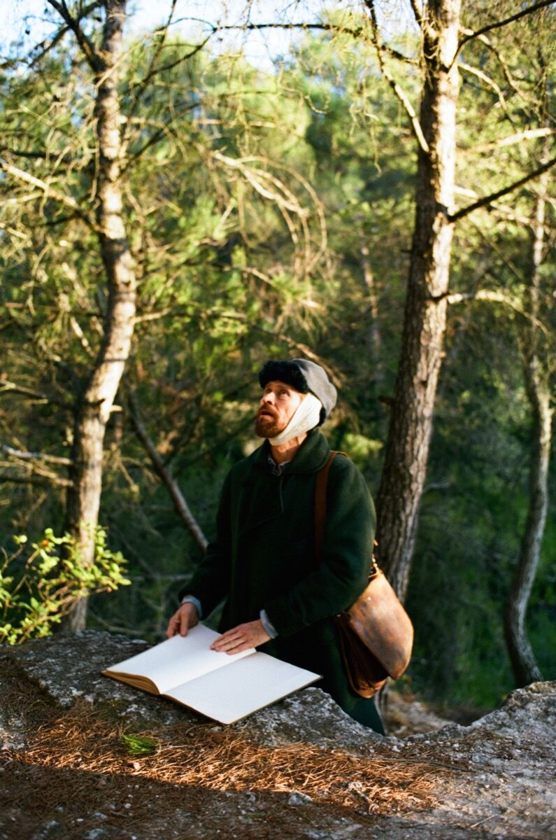 Willem Dafoe as Vincent van Gogh in Julian Schnabel's  At Eternity's Gate . Photo by Lily Gavin.