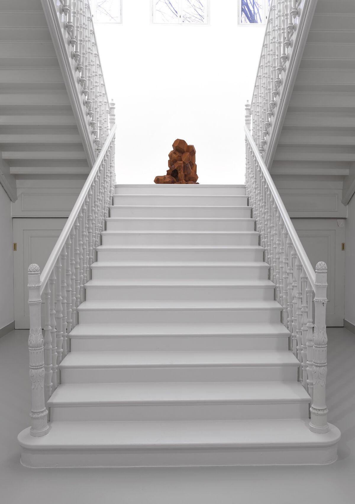 "Installation view of Antony Gormley, ""Earth Body,"" at Galerie Thaddaeus Ropac, Villa Kast, Salzburg, 2018. Photo by Ulrich Ghezzi. Courtesy of Galerie Thaddaeus Ropac."