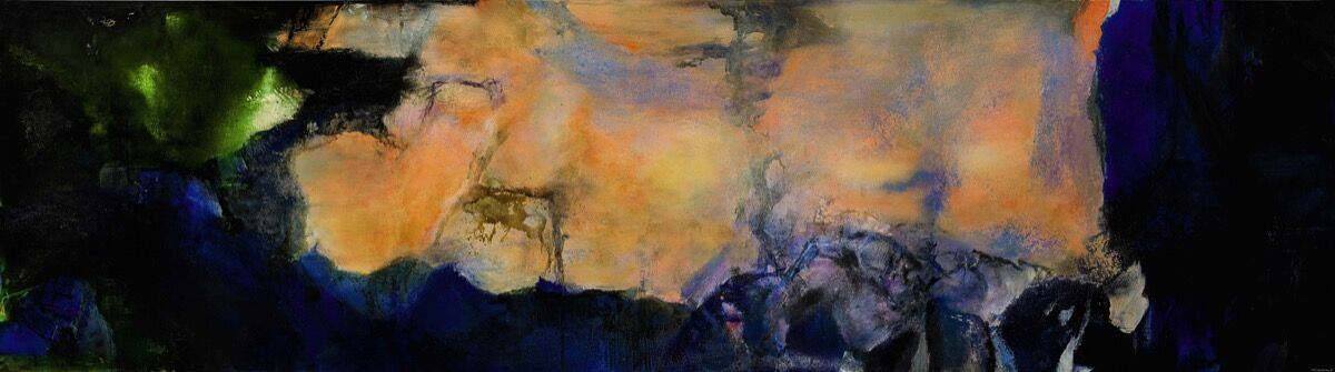 Zao Wou-Ki, Juin-Octobre 1985, 1985. Courtesy of Sotheby's.