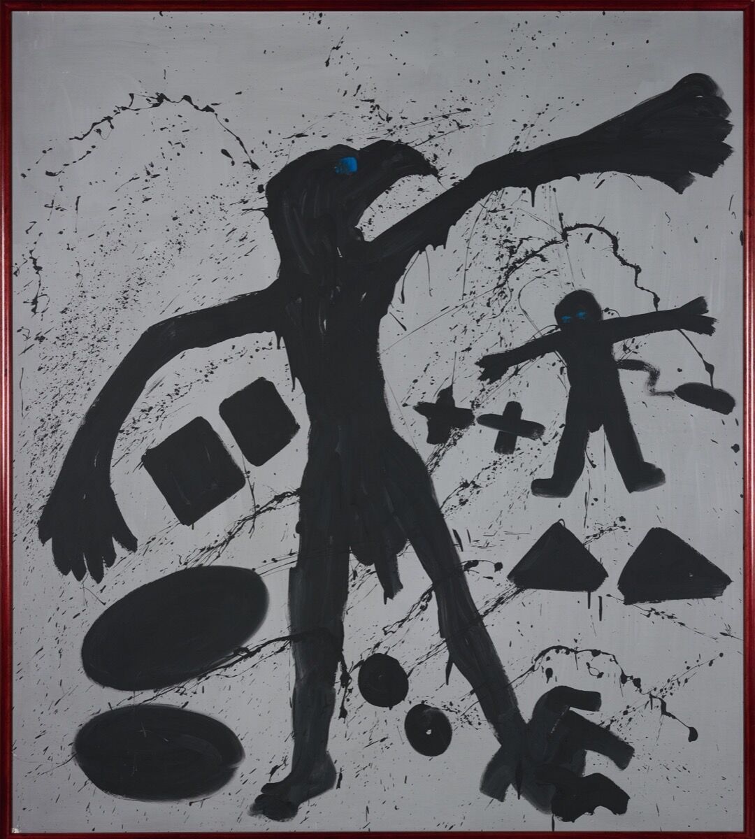A.R. Penck, Welt des adlers I (World of the Eagle I), 1981. Courtesy of Sotheby's.