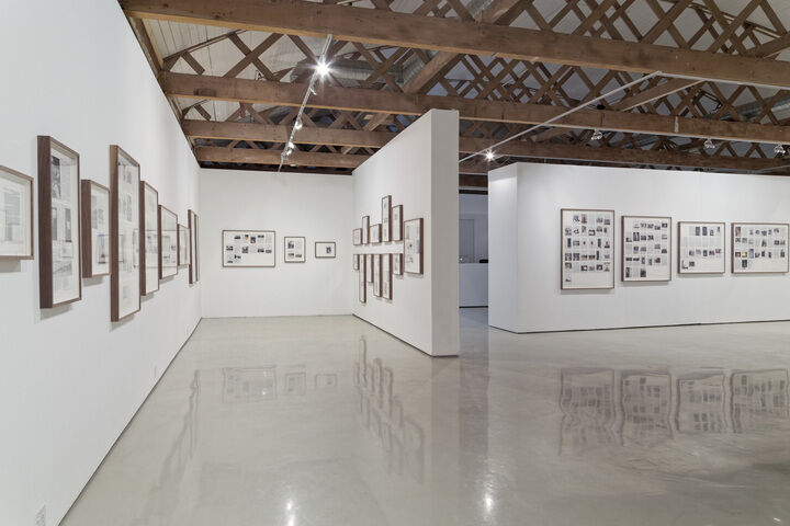 """Installation view of """"Broomberg & Chanarin: Divine Violence,"""" courtesy of Goodman Gallery"""