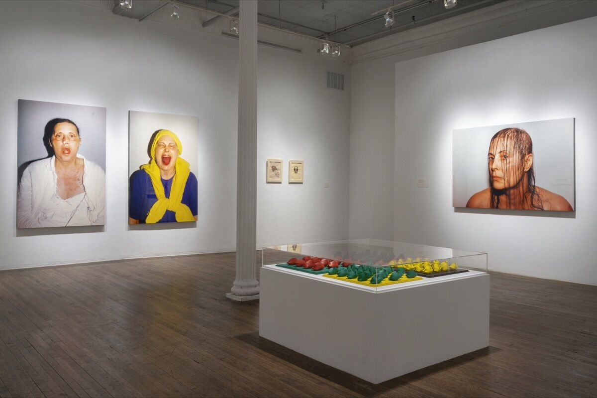 """Installation view of Hannah Wilke, """"Force of Nature,"""" at Ronald Feldman Gallery. Photo by Vince Ruvolo. Courtesy of Donald and Helen Goddard, Ronald Feldman Gallery, New York."""