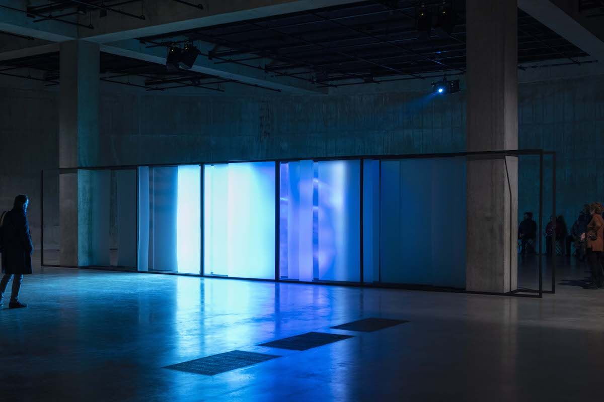 "Lawrence Abu Hamdan, installation view of ""Walled Unwalled"" in The Tanks, Tate Modern, London, 2018. Photo by Tate Photography."