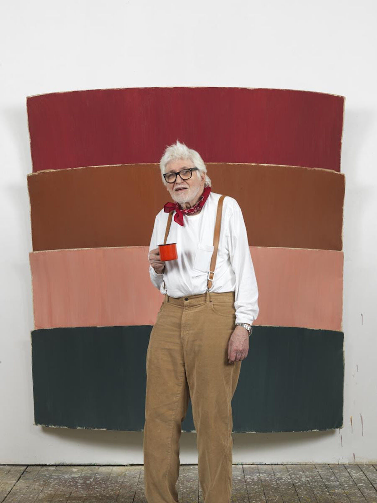 Ron Gorchov at his Brooklyn Studio. Photo by Brian Buckley, 2012.