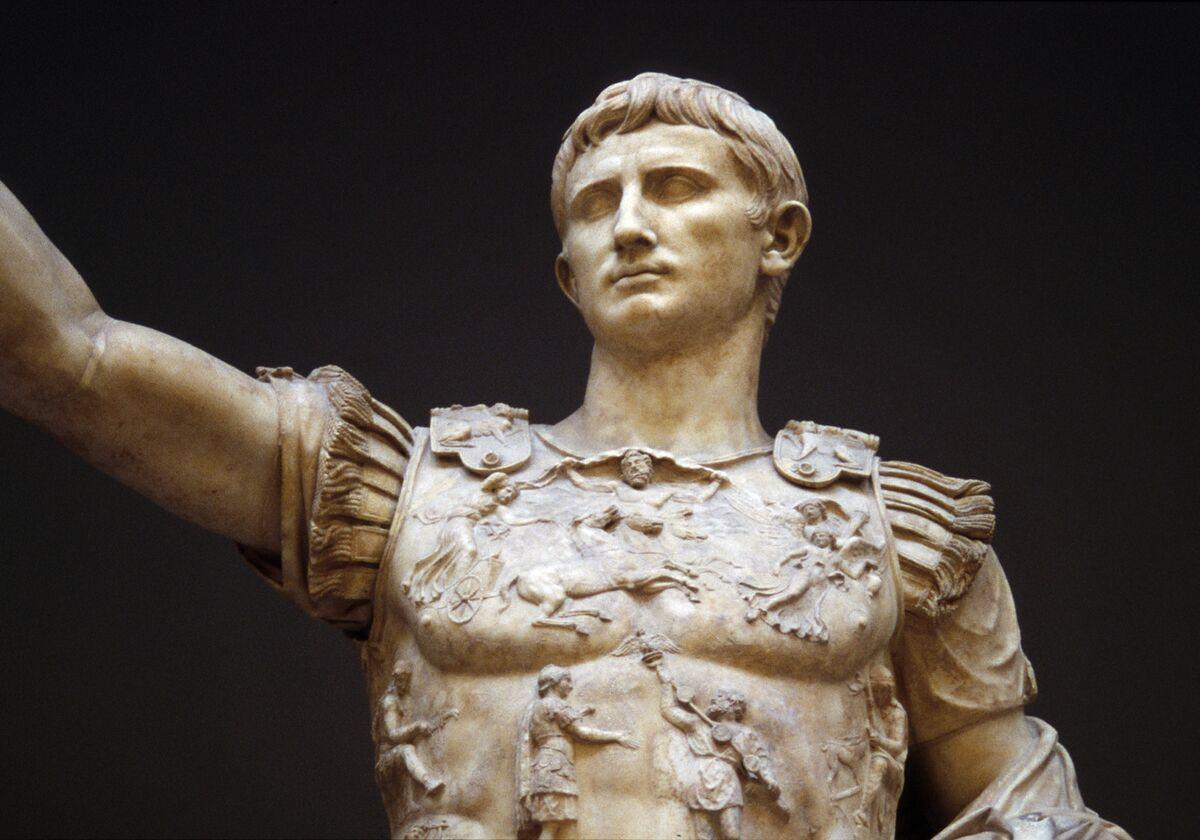 Augusto de Prima Porta, principios del siglo primero.  Foto de Tyler Bell, vía Flickr