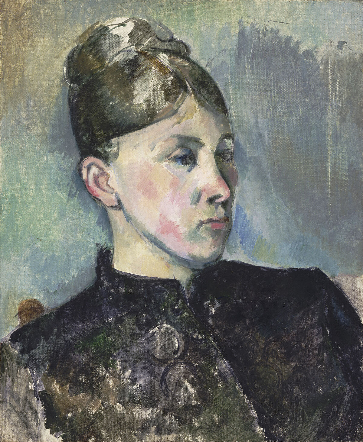 Paul Cézanne, Madame Cézanne, c. 1885. Courtesy of the National Gallery of Art.