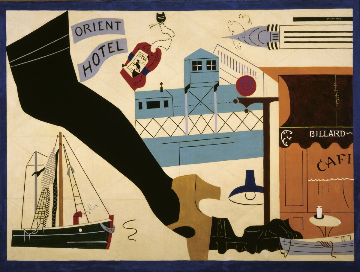 Stuart Davis, New York - Paris No. 1, 1931.   Artwork © Estate of Stuart Davis / Licensed by VAGA at Artists Rights Society (ARS), New York. Courtesy of the Jewish Museum.