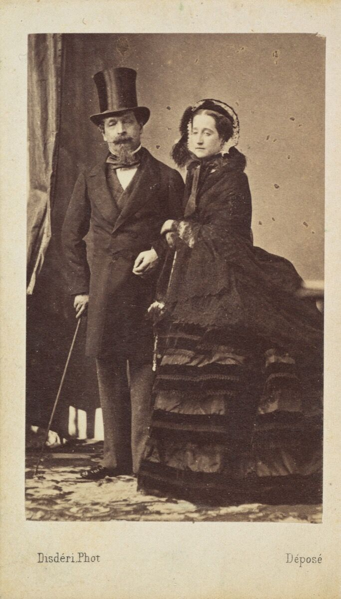 Napoleon III and Empress Eugenie, ca. 1865. Courtesy of The Metropolitan Museum of Art.