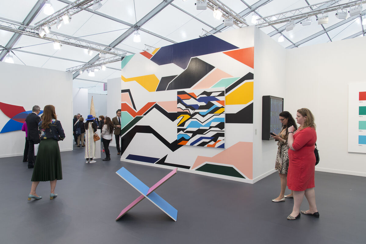 Installation view of White Cube's booth at Frieze New York, 2016. Photo by Adam Reich for Artsy.