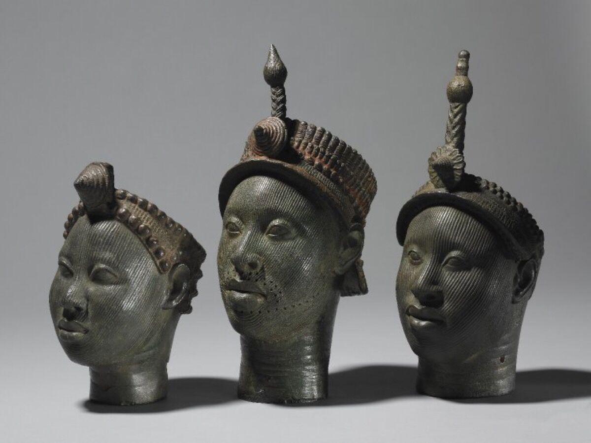 Brass Nigerian Ife Heads. Image via the British Museum.