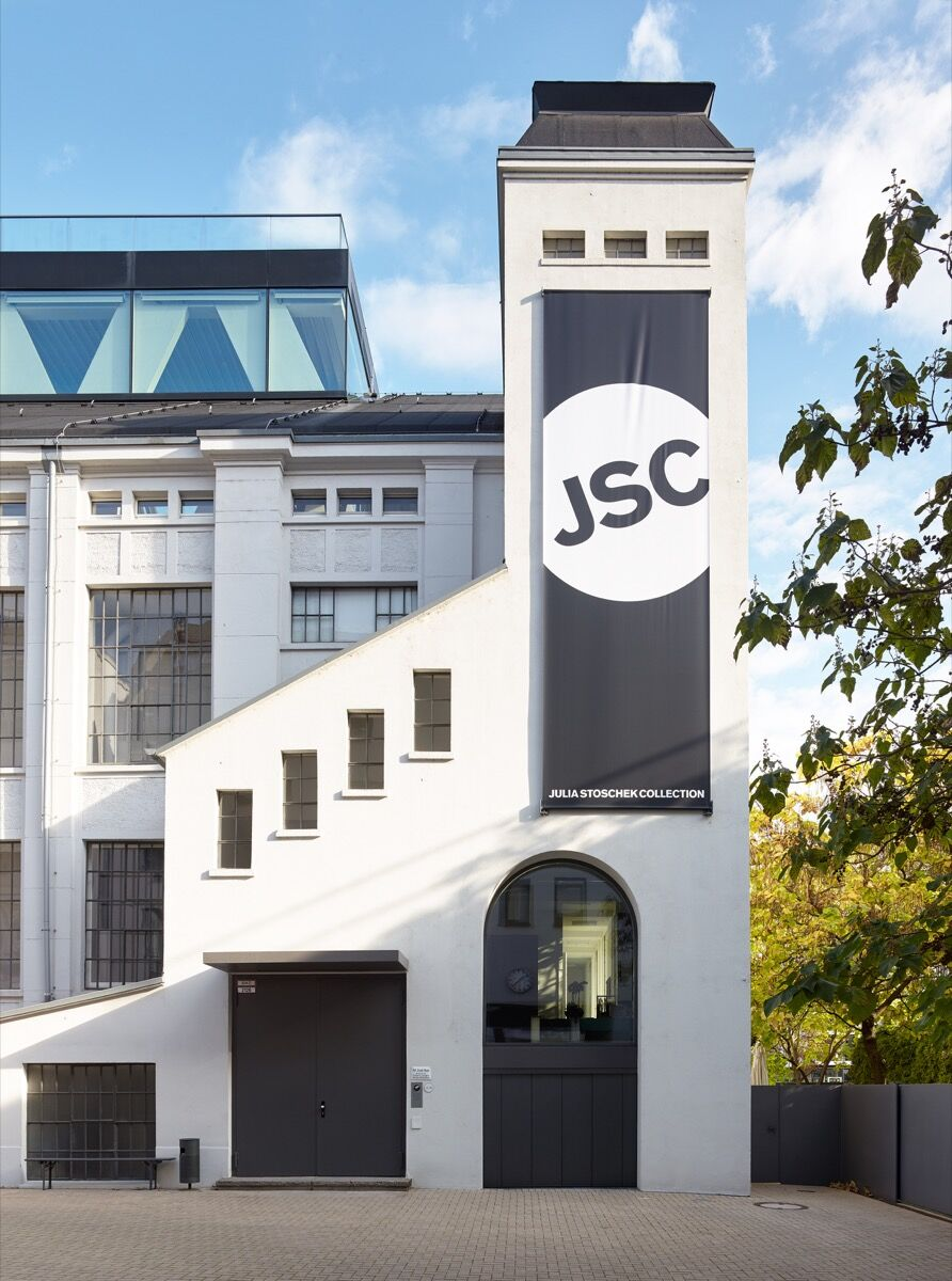 Exterior of JSC Düsseldorf. Photo by Simon Vogel, Cologne.