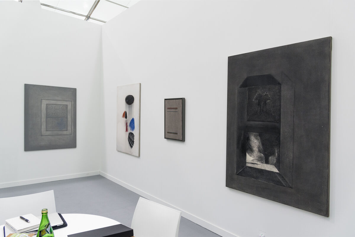 Installation view of Jhaveri Contemporary's booth at Frieze New York, 2016. Photo by Adam Reich for Artsy.