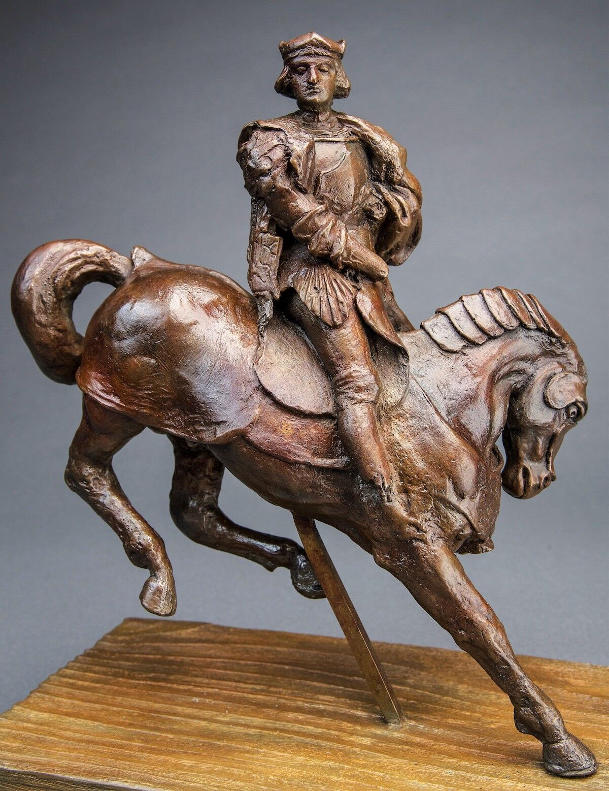 Horse and Rider, a sculpture attributed to Leonardo da Vinci. Courtesy Guernsey's.