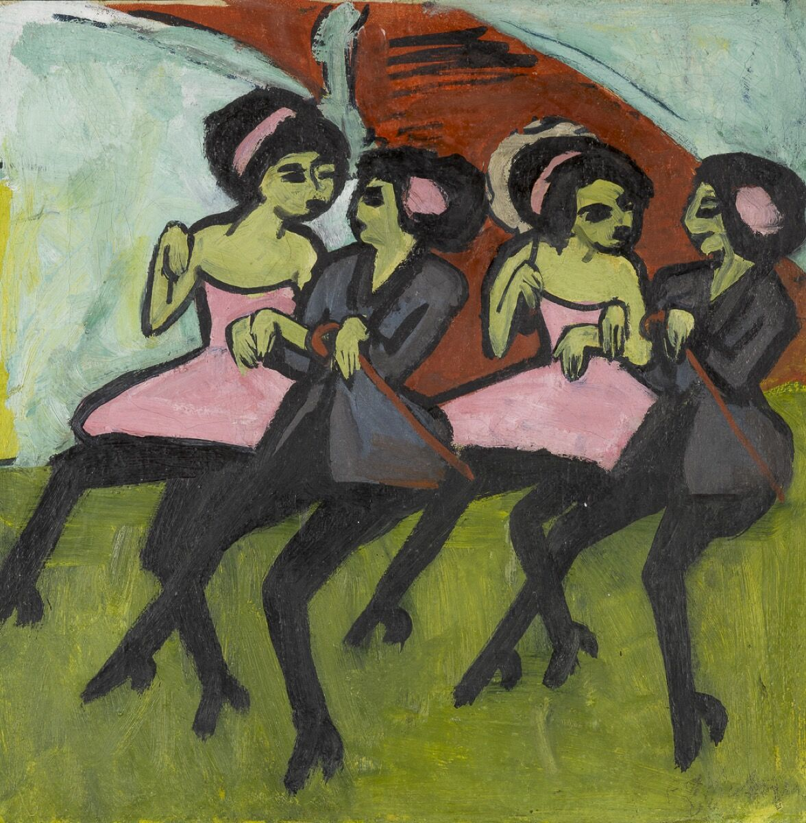 Ernst Ludwig Kirchner, Panama Dancers, 1910–11. Photo by Bridgeman Images. Courtesy of the North Carolina Museum of Art, Raleigh.
