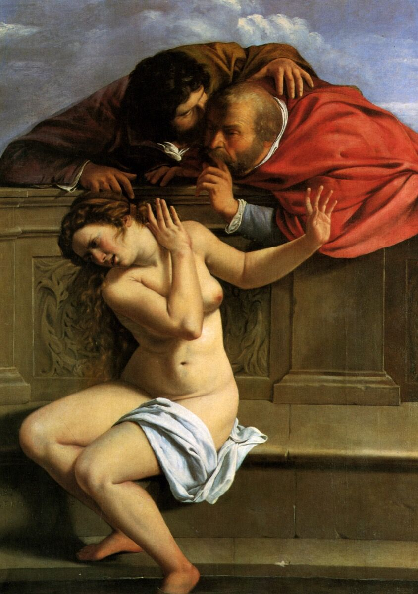 Artemisia Gentileschi, Susanna and the Elders, ca. 1610. Image via Wikimedia Commons.