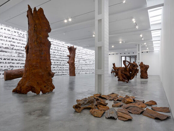 """Installation view of """"Ai Weiwei 2016: Roots and Branches"""" at Lisson Gallery. Photography by Jack Hems. © Ai Weiwei; Courtesy of Lisson Gallery."""
