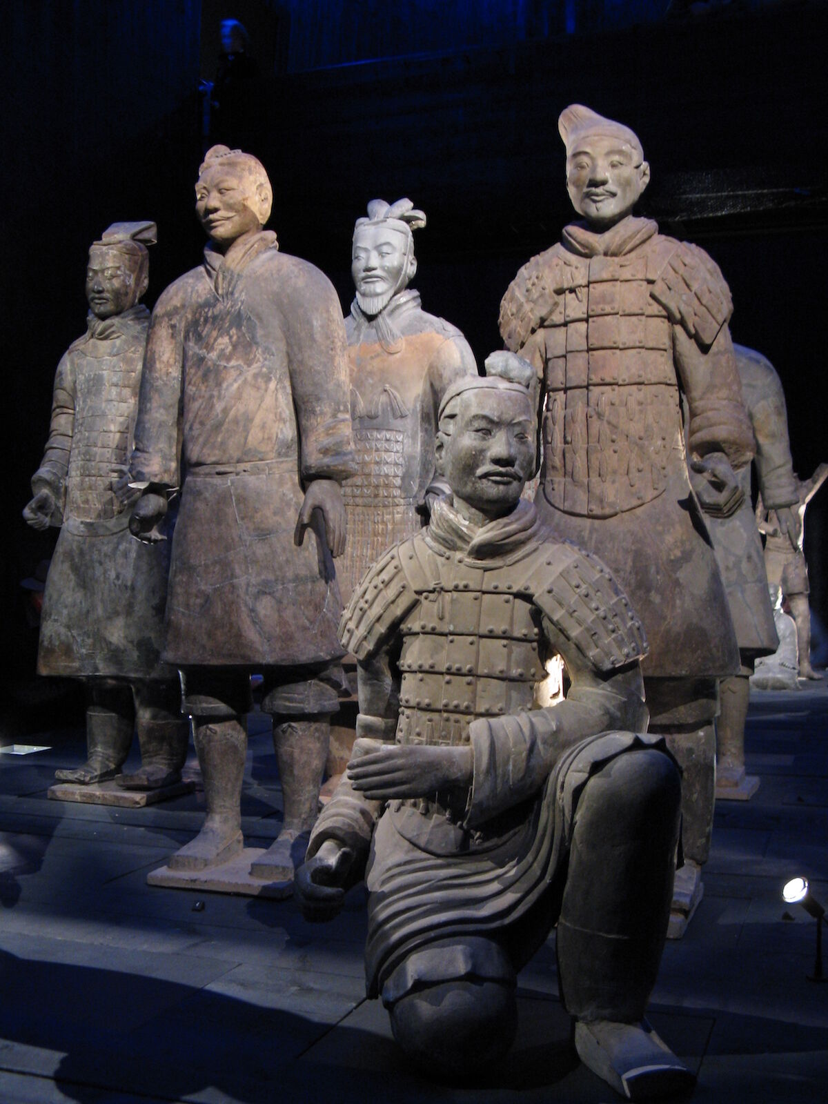 Terra-cotta warrior figures. Photo by Dohduhdah, via Wikimedia Commons.
