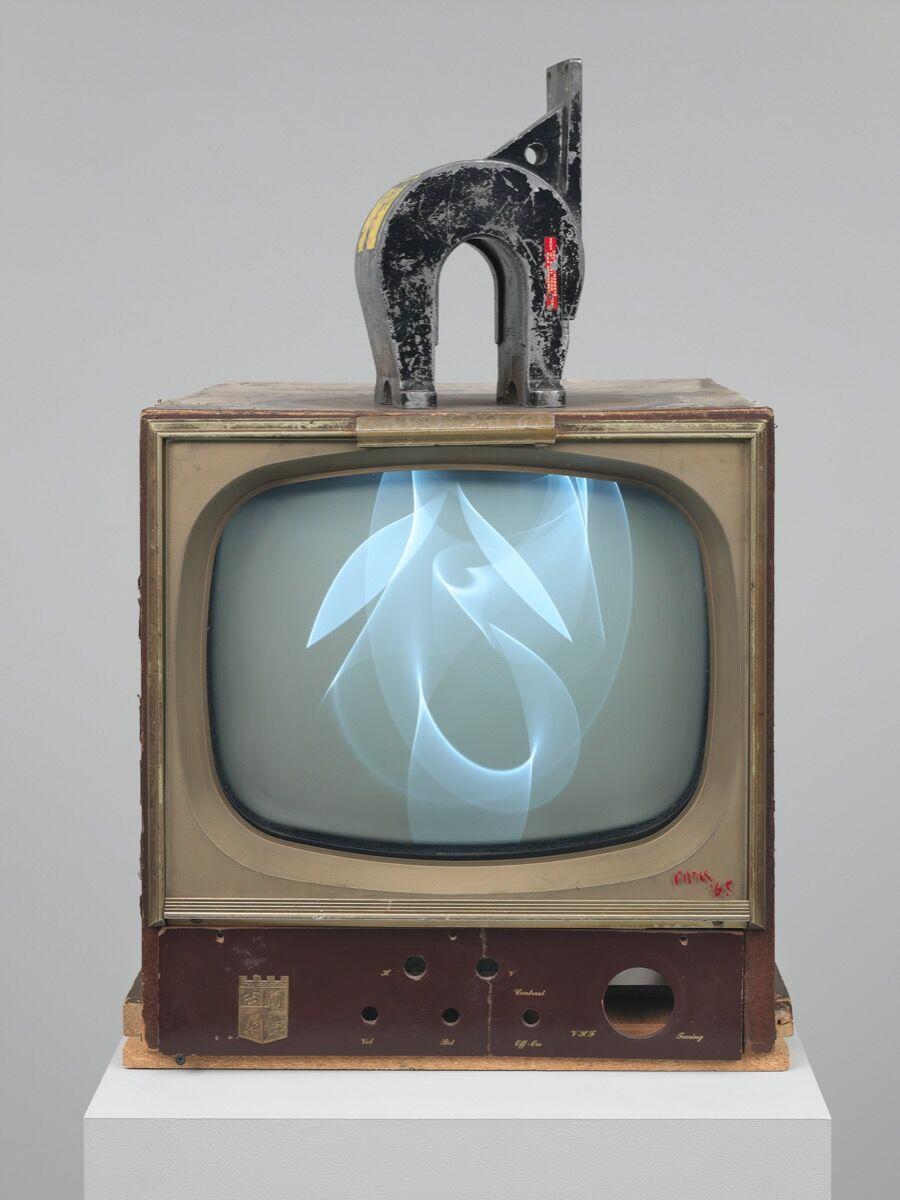 Nam June Paik, Magnet TV, 1965. © The Estate of Nam June Paik. Courtesy of the Whitney Museum of American Art and Stedelijk Museum Amsterdam.