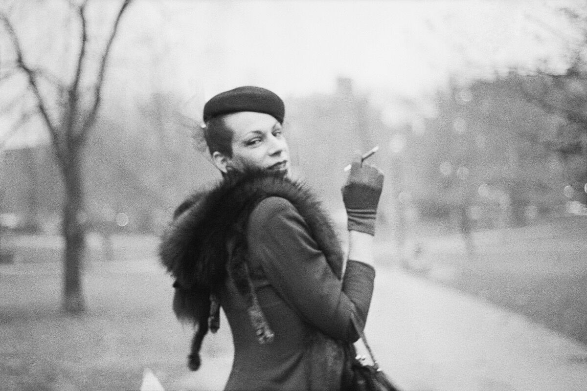 Nan Goldin, Ivy on the way to Newbury St., Boston Garden, Boston, 1973. Courtesy of the artist and Marian Goodman Gallery New York, Paris, and London.