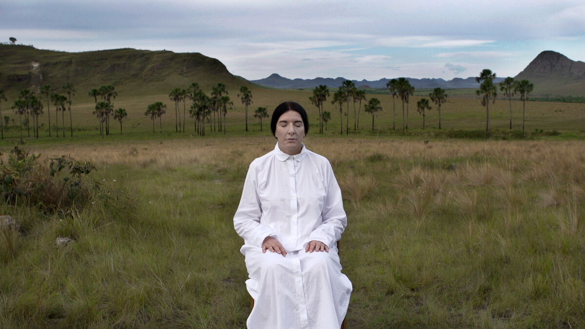 Marina Abramović in Brazil, still from the documentary The Space in Between, 2016. Directed by Marco Del Fiol Courtesy of Casa Redonda.