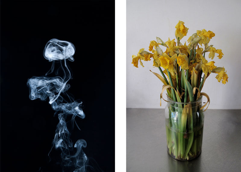 Left: Gavin Turk, Parapraxis, 2013. Right: Gavin Turk, The Metamorphosis of Narcissus, 2011.© Gavin Turk. Images courtesy of the Freud Museum London.