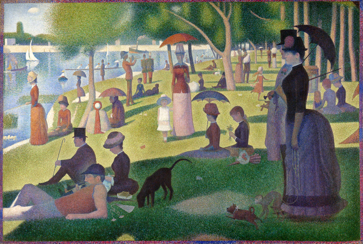 Georges Seurat, A Sunday Afternoon on the Island of La Grande Jatte, 1884-1886. Photo via Wikimedia Commons.