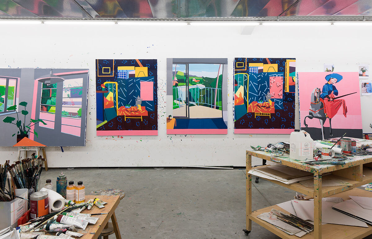View of Guy Yanai's studio in February 2019. Photo by Elad Sarig. Courtesy of the artist.