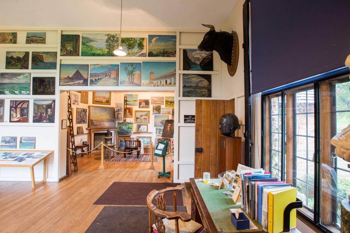 Winston Churchill's studio at Chartwell. ©National Trust Images/Ciaran McKrickard.