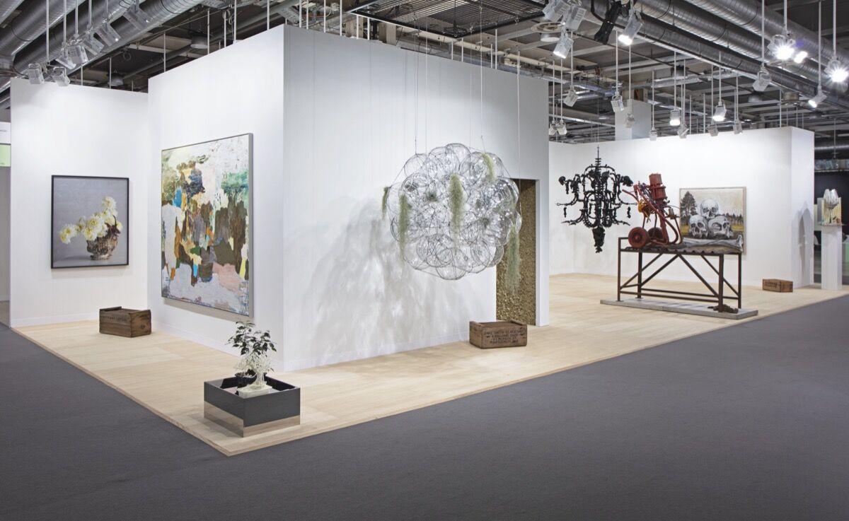 Installation view of neugerriemschneider's booth at Art Basel, Basel, 2021. Photo © Sebastiano Pellion. Courtesy of neugerriemschneider.