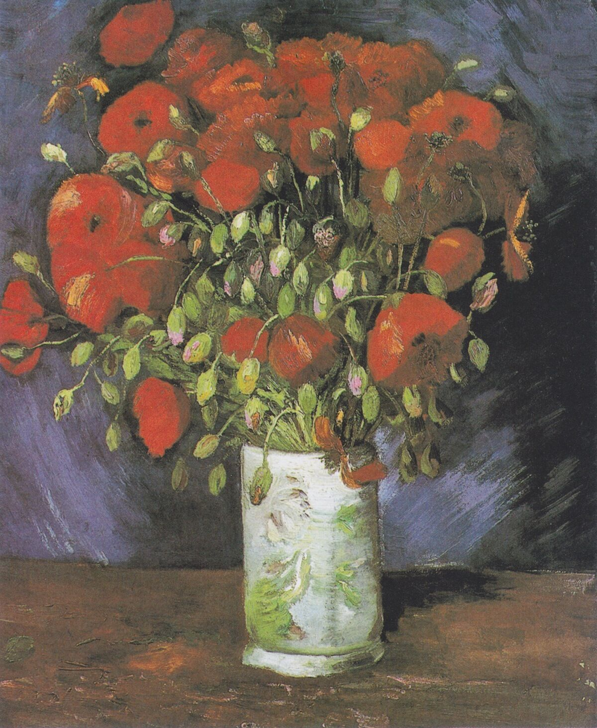 Vincent van Gogh, Vase With Poppies, 1886. Courtesy Wadsworth Atheneum Museum of Art, via Wikimedia Commons.