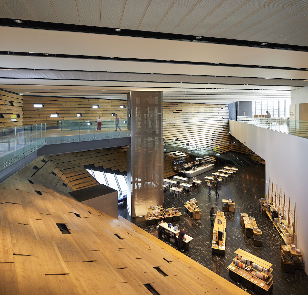 An interior space at the new V&A Dundee. Photo by and © Hufton Crow, courtesy the V&A Dundee.
