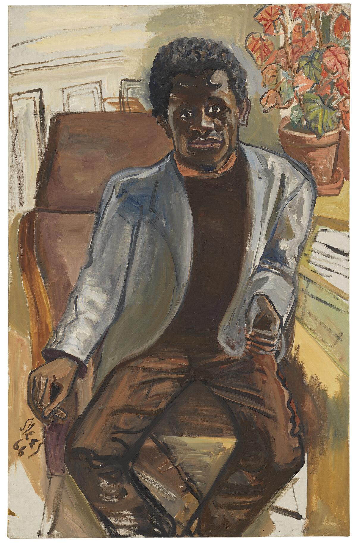 Alice Neel, Black Man, 1966.© The Estate ofAliceNeel. Courtesy David Zwirner, New York/London and Victoria Miro, London.