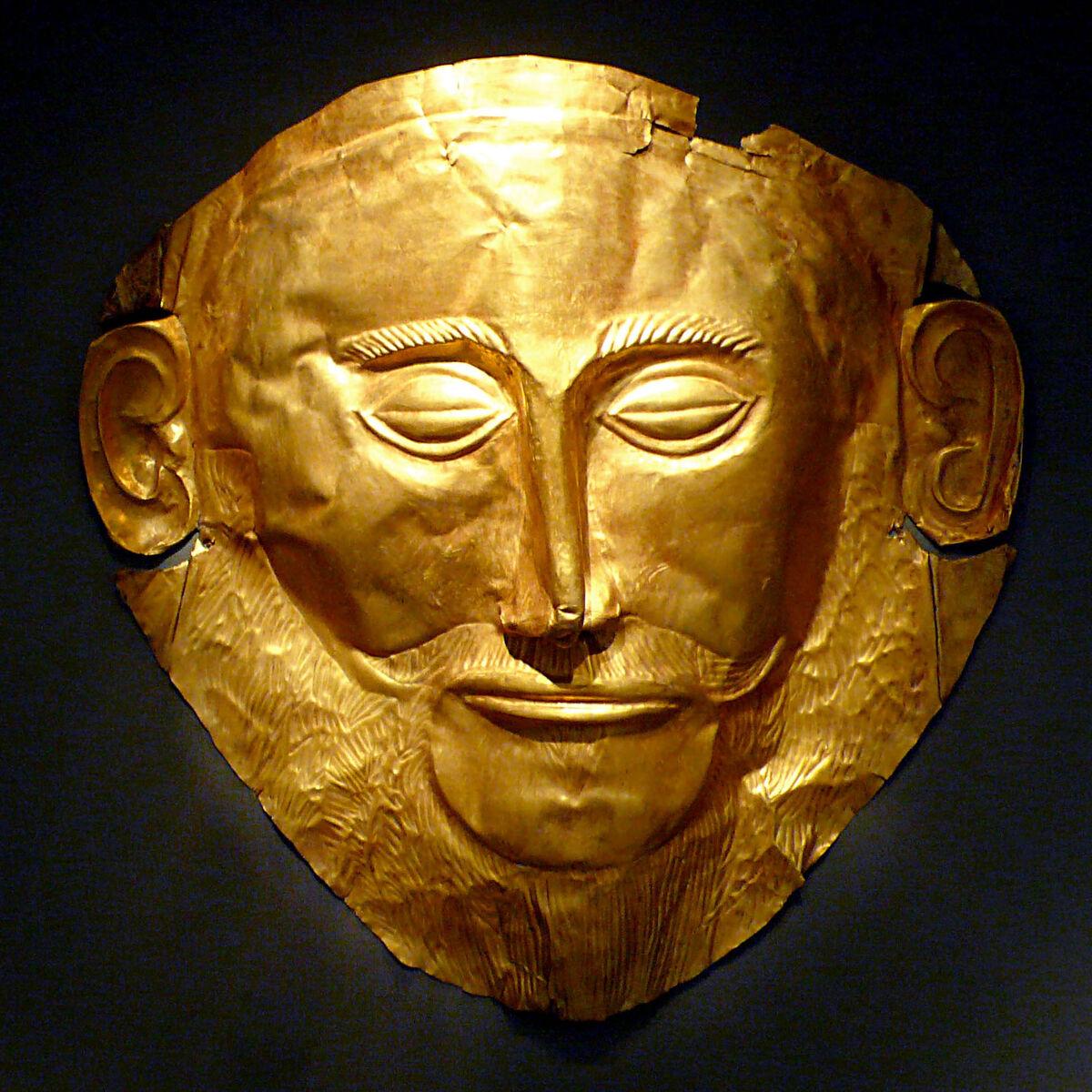 Mask of Agamemnon. Photo via Wikimedia Commons.
