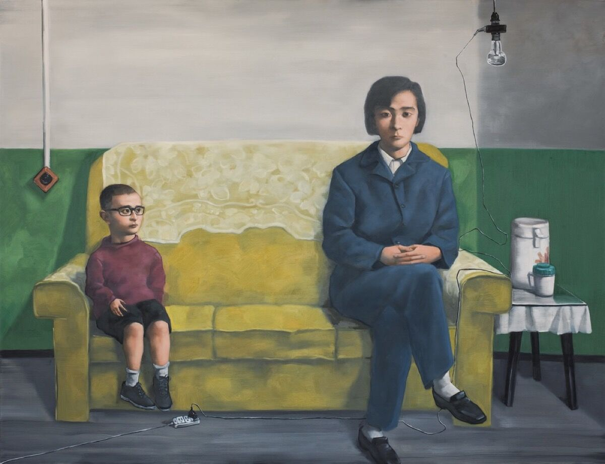 Zhang Xiaogang, My Mother, 2012. Courtesy of Pace Gallery.