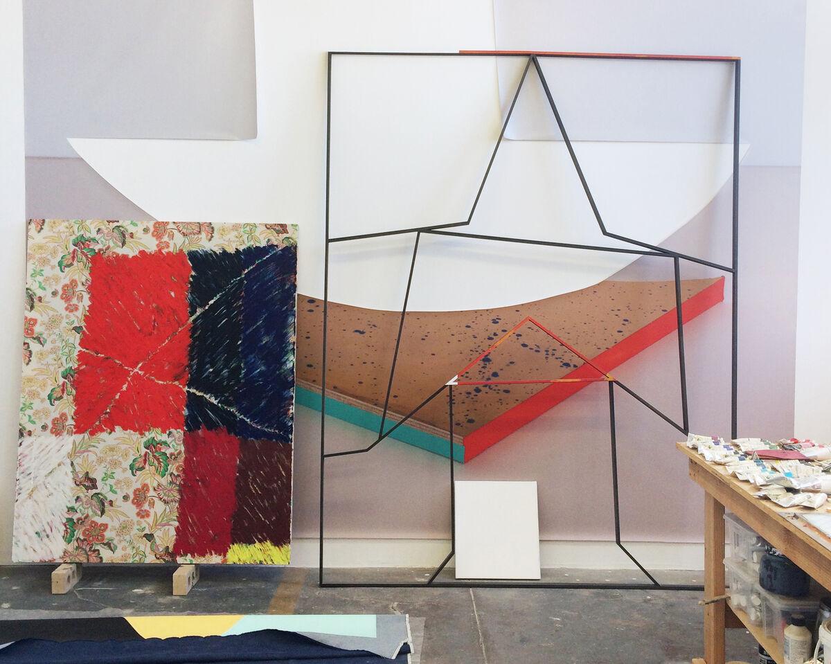 View of Nathan Dilworth's studio. Photo by Alexxa Gotthardt.