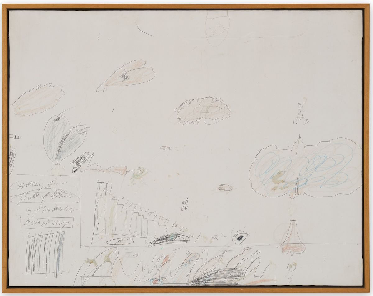 Cy Twombly,  Study for School of Athens [Rome] , 1960. © The Cy Twombly Foundation. Courtesy of Hauser & Wirth. Photo by Jon Etter.
