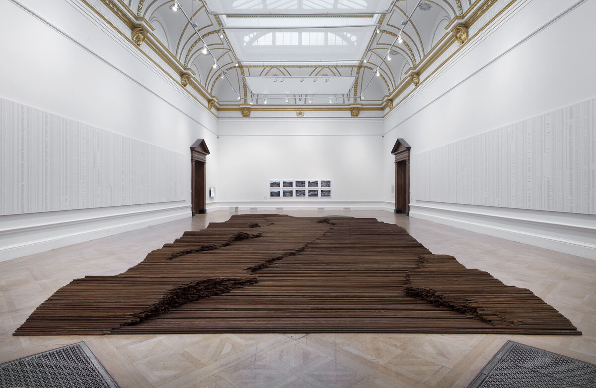 Installation view of Ai Weiwei,Straight, 2008-2012, at Royal Academy.Photo by Royal Academy of Arts, London. Courtesy of Ai Weiwei Studio.