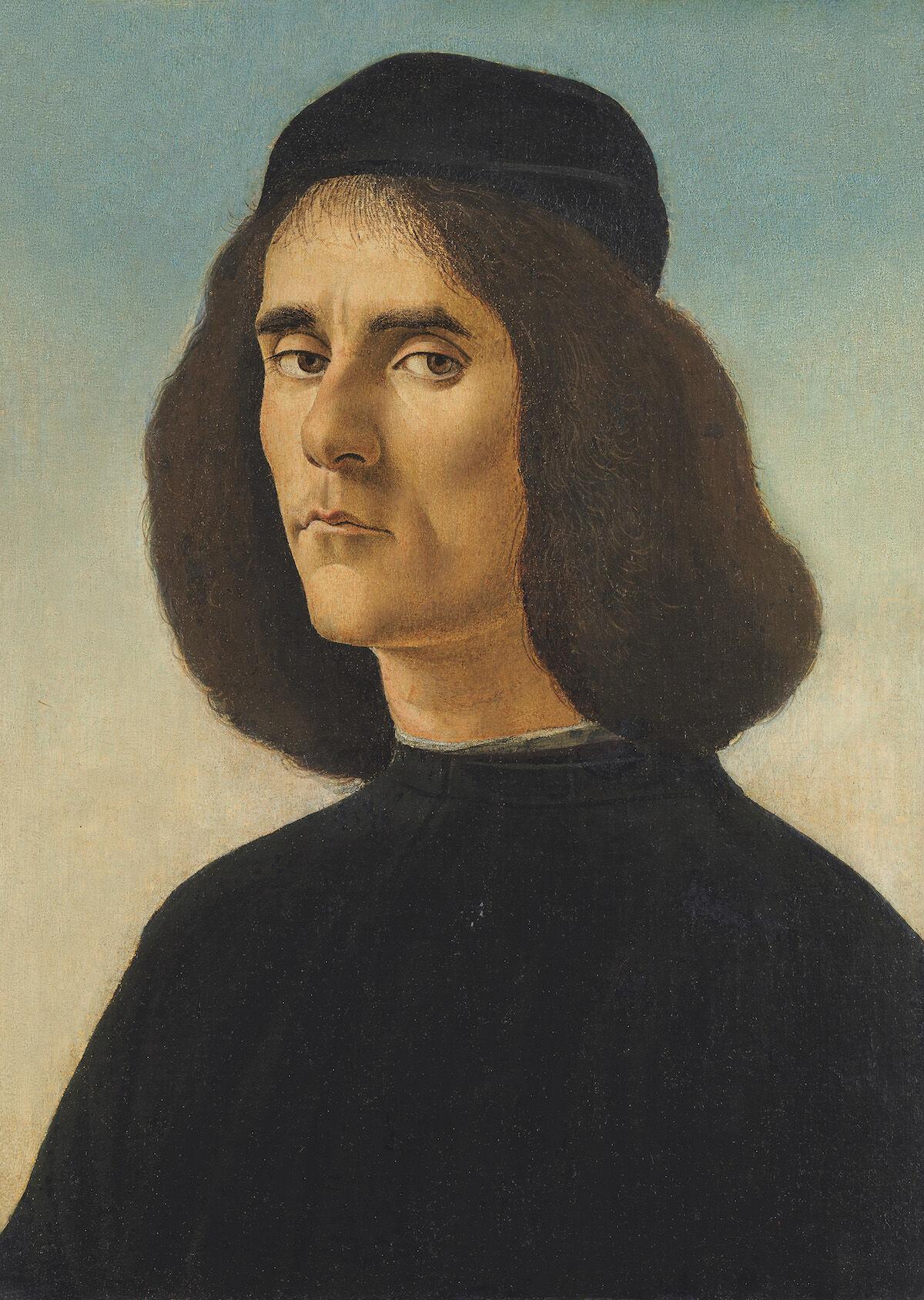 Sandro Botticelli, Portrait of Michele Marullo, circa 1500. Courtesy Trinity Fine Art.