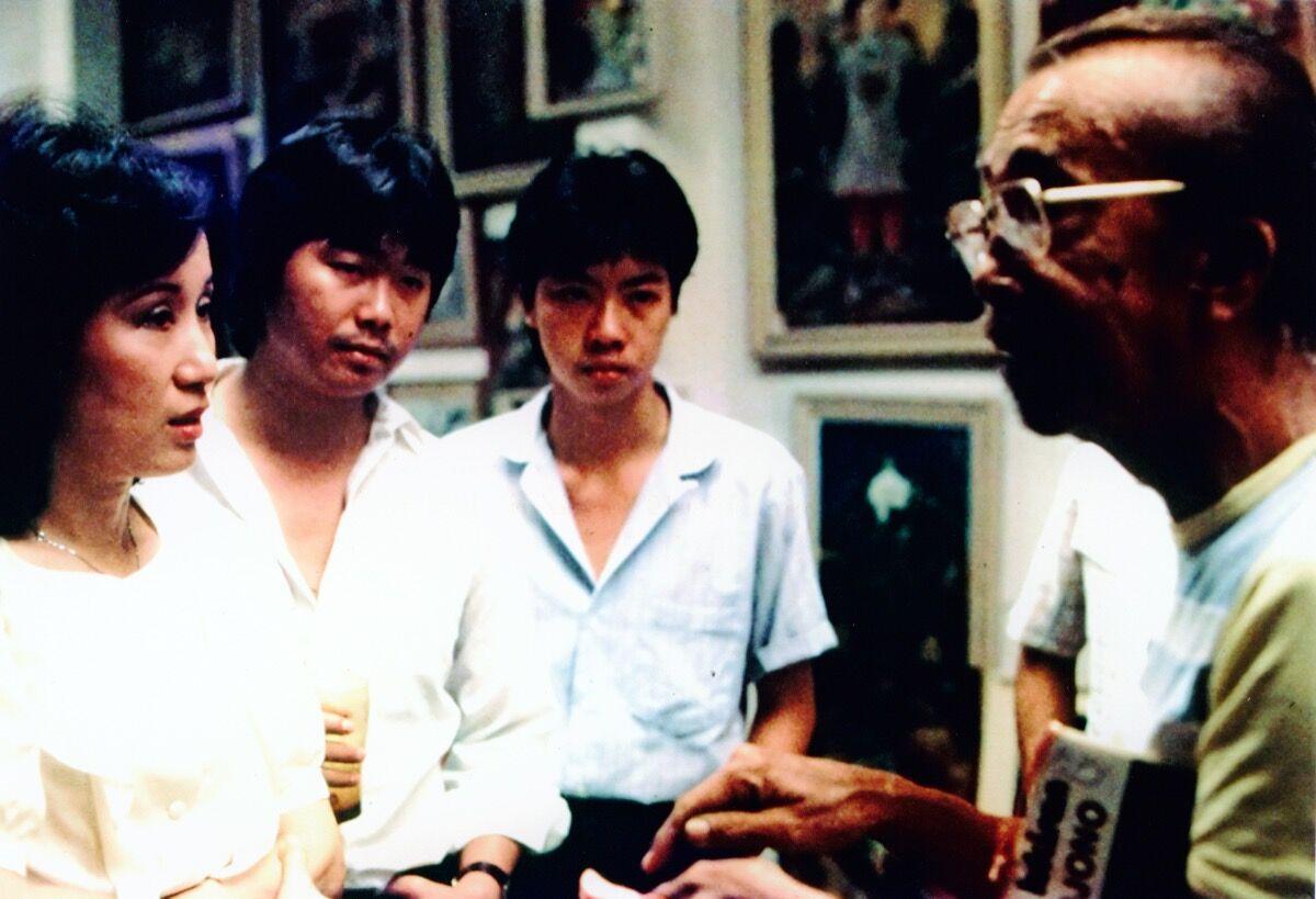 Melani Setiawan and S. Sudjojono in Pandanwangi Studio in Jakarta, 1984. Courtesy of Melani Setiawan.