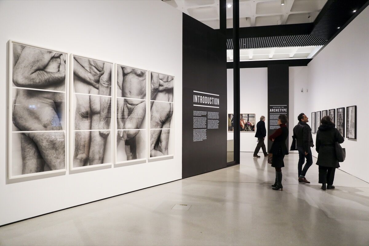 """Installation view of """"Masculinities : Liberation through Photography"""" at Barbican Art Gallery, 2020. © Tristan Fewings / Getty Images. Courtesy of Barbican Art Gallery."""