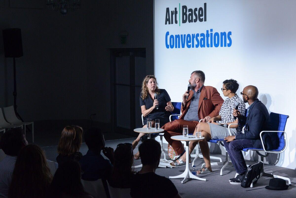 Anne Pasternak, Bill Arning, Jordan Casteel, Teju Cole. © Art Basel.