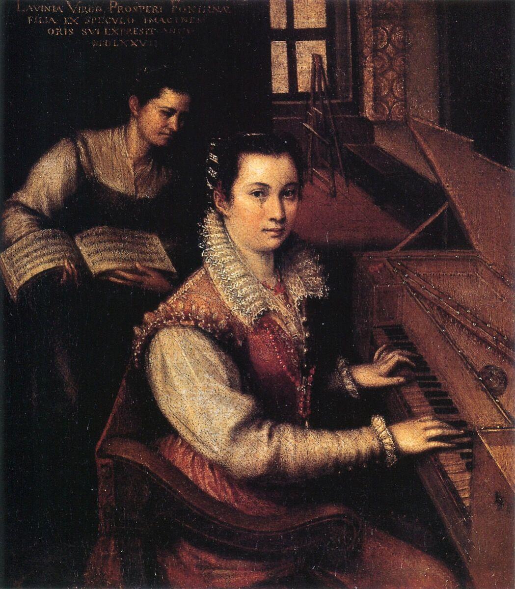 Lavinia Fontana, Self-portrait at the Virginal with a Servant, 1577.