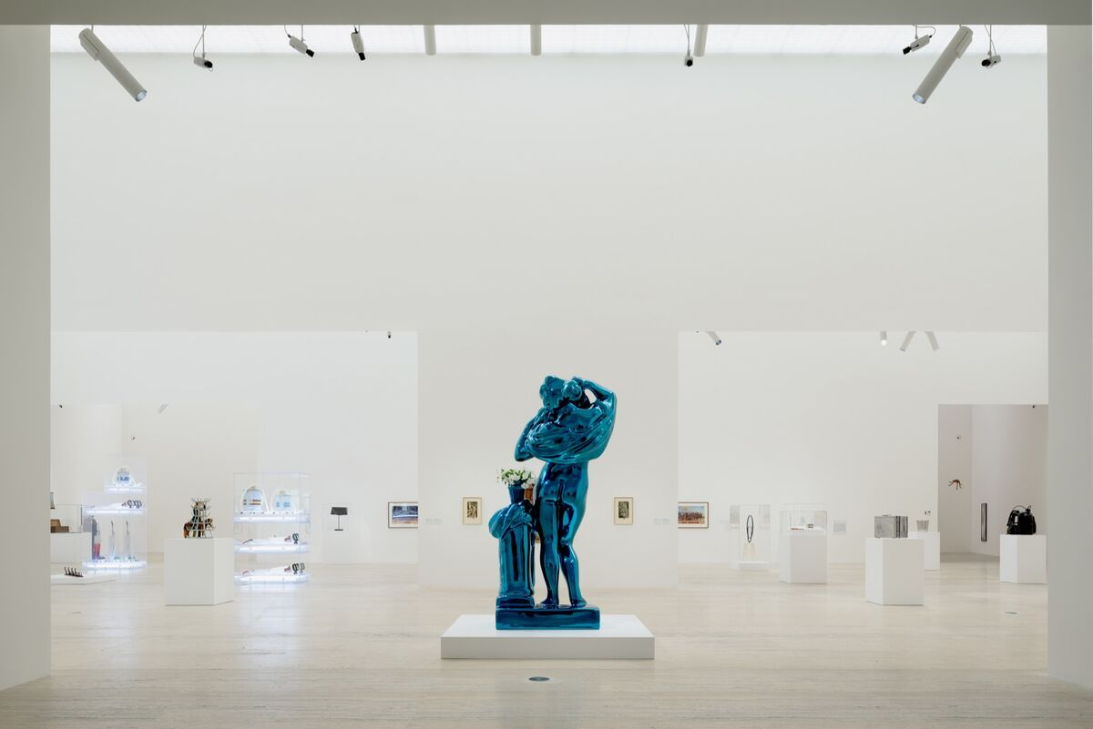 "Installation view ""Appearance Stripped Bare: Desire and the Object in the Work of Marcel Duchamp and Jeff Koons, Even,"" at Museo Jumex, 2019. Photo by Moritz Bernoully. Courtesy of Museo Jumex."