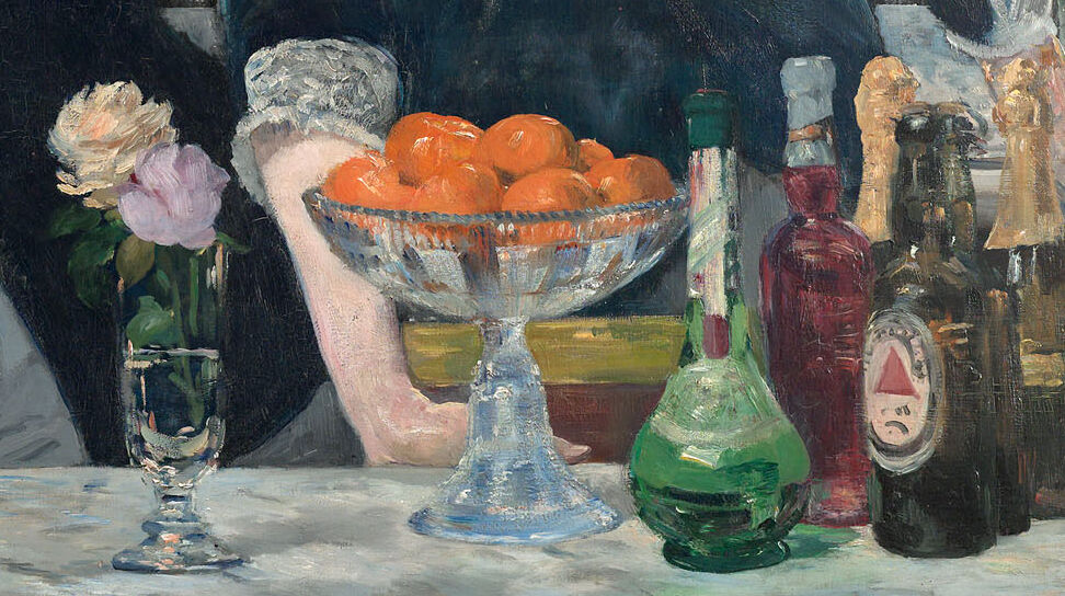 Detail of Edouard Manet, A Bar at the Folies-Bergère, 1881–82. Image via Wikimedia Commons.