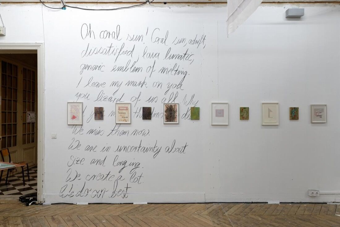 Installation view ofSupportico Lopez at Paris Internationale, 2015. Photo byAurélien Mole,courtesy ofParis Internationale.