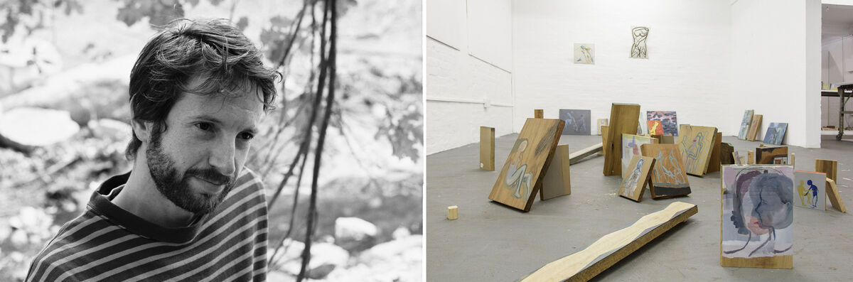 Portrait of Jonah Sackand Installation View of His Forthcoming Exhibition at Gallery AOP, courtesy of the gallery.