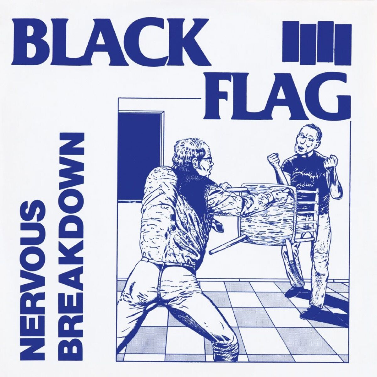 Raymond Pettibon's cover for Black Flag by Nervous Breakdown, 1980. Courtesy of TASCHEN.