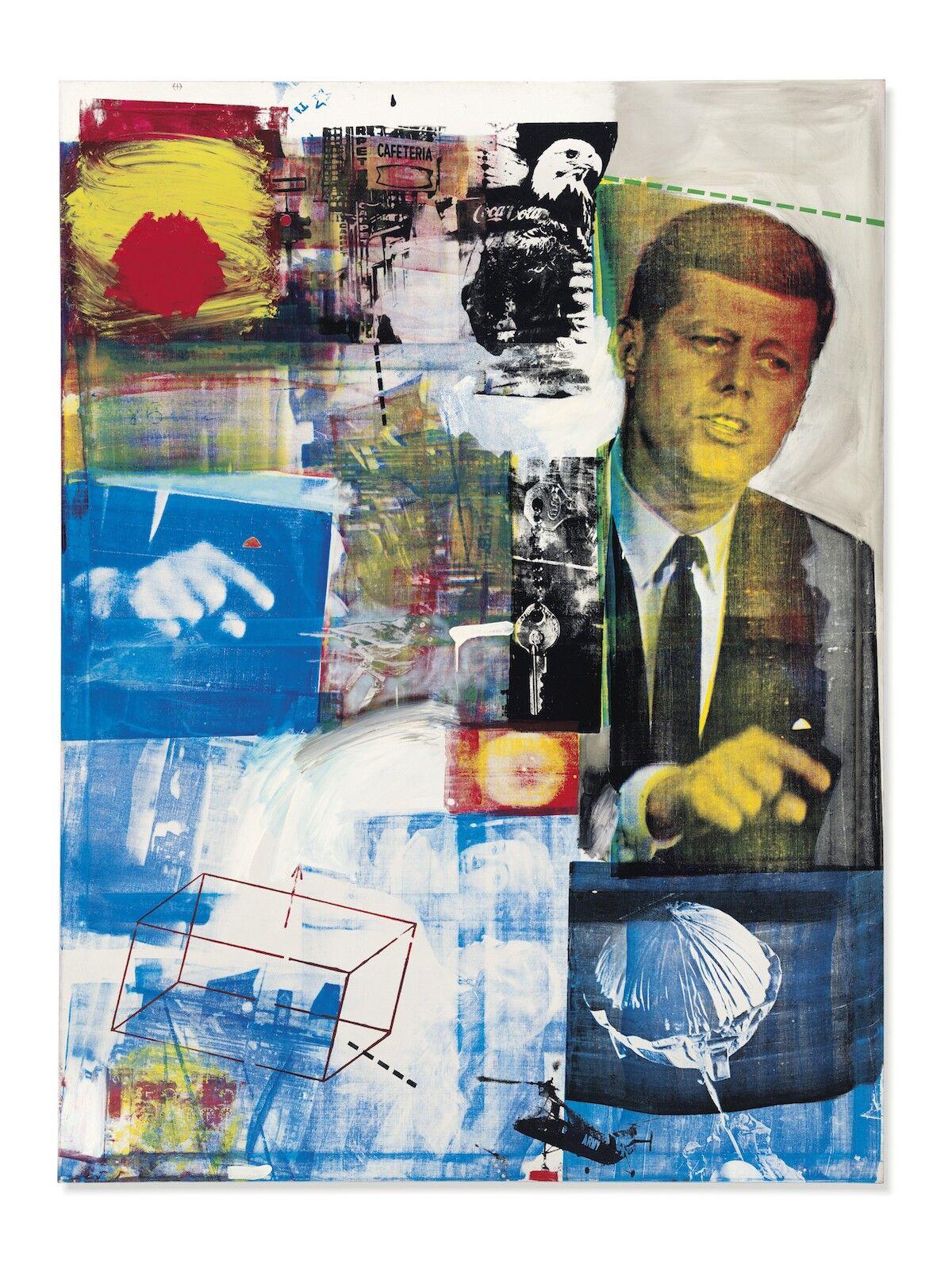 Robert Rauschenberg, Buffalo II, 1964. Est. $50 million. Courtesy Christie's.